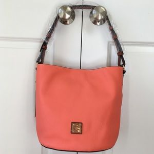 *NWT* Dooney & Bourke - Thea Feed Bag - Coral